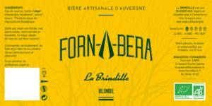 """Étiquette Bière Bio """"La Brindille"""""""