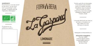 Etiquette Limonade Bio La Gaspard